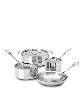 All-Clad - Stainless Steel 7-Piece Cookware Set - 100% Exclusive