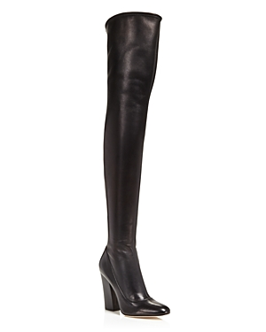 Sergio Rossi Virginia Leather Over The Knee Boots - 100% Exclusive