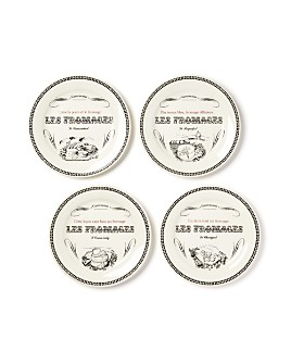 Gien France - Les Fromages Tidbit Plates, Set of 4