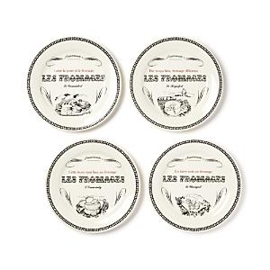 Gien France Les Fromages Tidbit Plates Set of 4