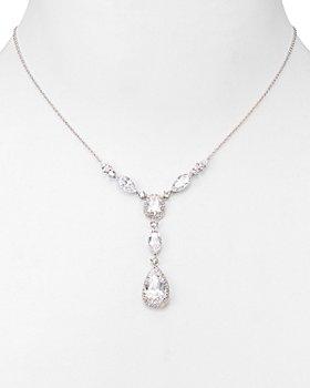 "Nadri - Pear Shaped Drop Lariat Necklace, 16"""