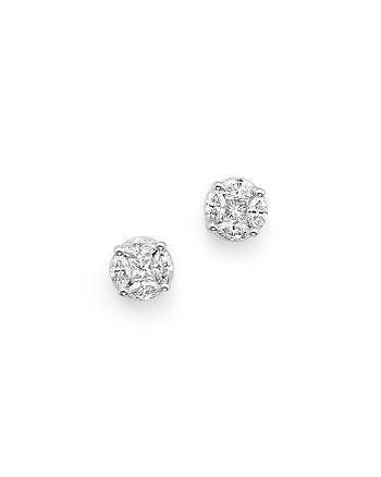 Roberto Coin - 18K White Gold Diamond Stud Earrings