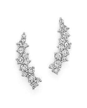 Bloomingdale's - Small Diamond Scatter Ear Climbers in 14K White Gold, .30 ct. t.w. - 100% Exclusive
