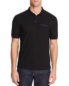 HUGO Dolorino Leather Trim Slim Fit Polo Shirt - Bloomingdale's_0