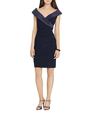 Lauren Ralph Lauren Satin Crossover Dress