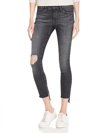 FRAME - Skinny Raw Stagger Jeans in Marcy - 100% Exclusive