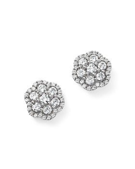 Bloomingdale's - Diamond Flower Cluster Stud Earrings in 14K White Gold, 1.0 ct. t.w.  - 100% Exclusive