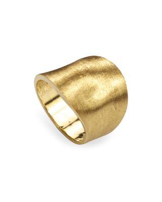 18K YELLOW GOLD ENGRAVED LUNARIA RING