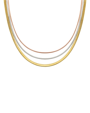 Marco Bicego 18K Yellow, Rose & White Gold Goa Collar Necklace, 18