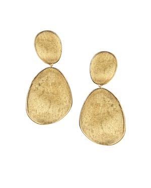 Marco Bicego 18K Yellow Gold Lunaria Two Drop Earrings