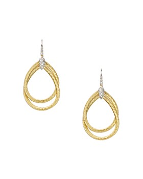Marco Bicego - 18K Yellow Gold Cairo Drop Earrings with Diamonds
