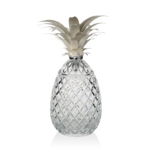 William Yeoward Crystal Isadora Silver Pineapple Centerpiece, 19