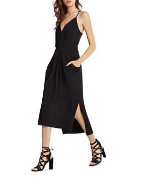 BCBGENERATION - Faux Wrap Midi Dress