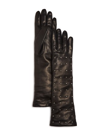 Bloomingdale's Cashmere Lined Studded Long Gloves - 100% Exclusive