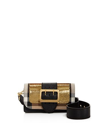 Burberry - Small House Check Sequin Bridle Shoulder Bag