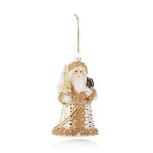 Bloomingdale's Glass Santa Ornament - 100% Exclusive