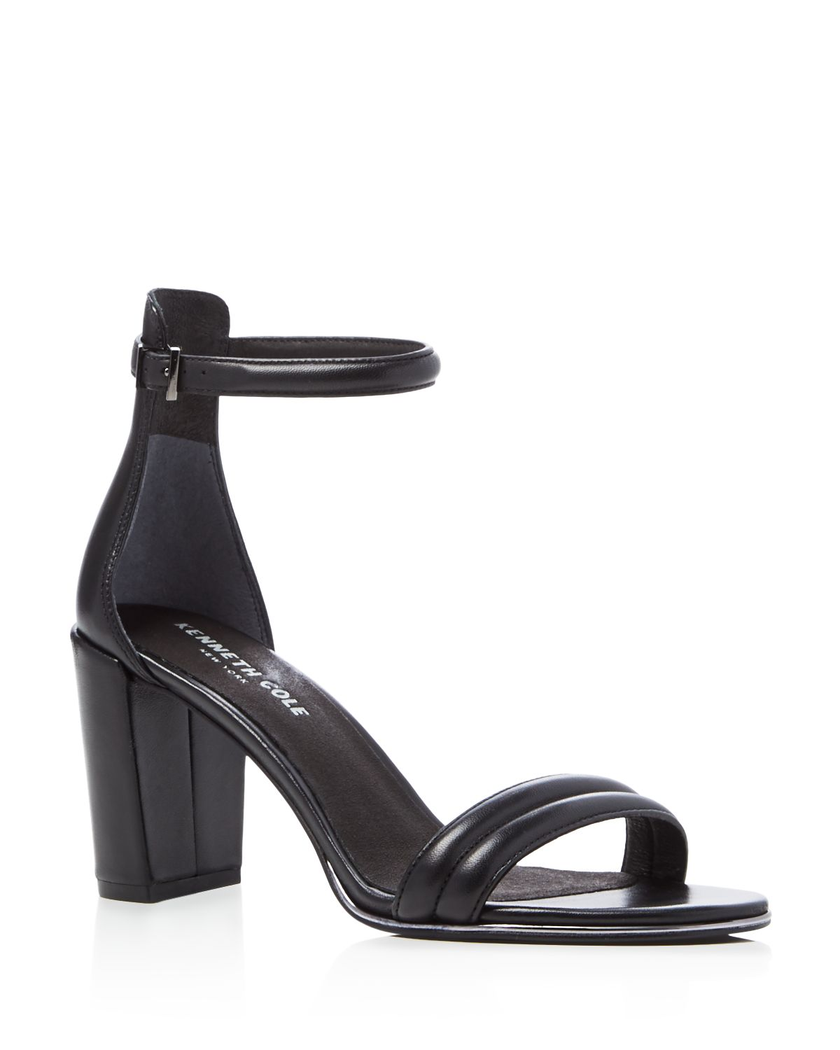 Kenneth Cole Lex Leather Ankle Strap High-Heel Sandals
