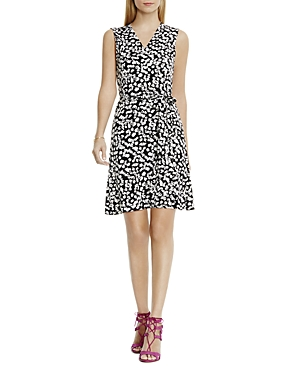 Vince Camuto Abstract Print Wrap Dress