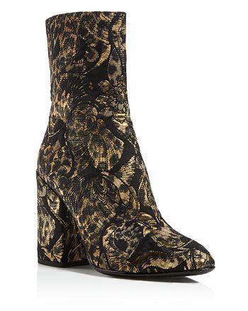 Ash - Women's Flora Embroidered Block Heel Booties - 100% Exclusive