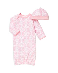 Little Me - Girls' Damask Scroll Print Gown & Hat Set - Baby