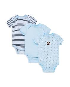 Little Me - Boys' Monkey Star Bodysuit, 3 Pack - Baby