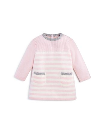 Bloomie's - Girls' Cashmere Stripe Dress with Contrast Tipping, Baby - 100% Exclusive