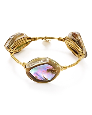 Bourbon & Boweties Abalone Shell Bangle