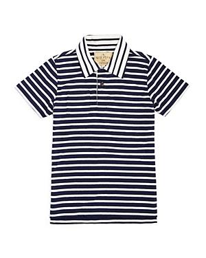 Rose Pistol Boys Striped Jersey Polo Shirt  Big Kid