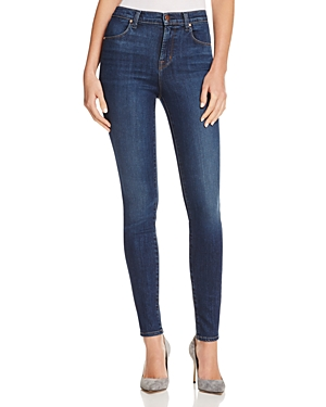J Brand has developed a cult following for their effortlessly cool designs in incredibly flattering cuts, and their Maria skinny jeans are one of the stars of the collection every season. A high rise cements this pair\\\'s status as a comfortable and smoothing must-have.