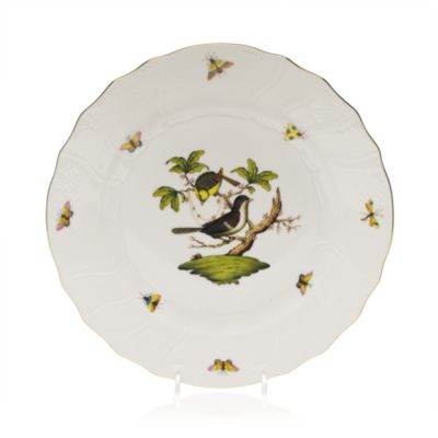 Rothschild Bird Rimmed Soup Bowl, Motif #10