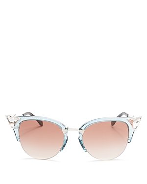 Fendi Iridia Cat Eye Sunglasses, 52mm