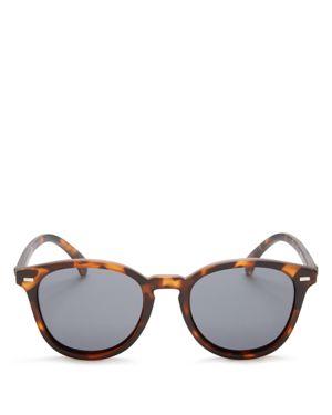 'Bandwagon' 51Mm Polarized Sunglasses - Matte Tort/ Smoke Mono Polar in Turtle Shell