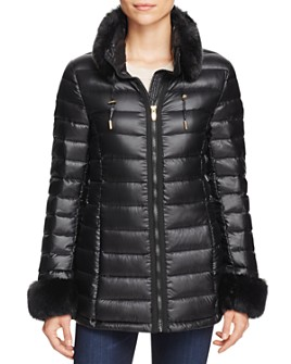 Via Spiga - Faux Fur Trim Puffer Jacket