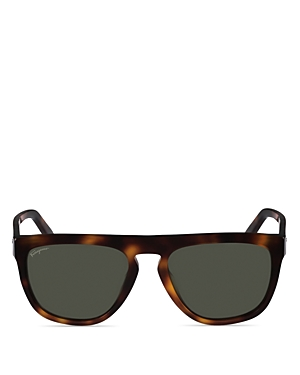 Salvatore Ferragamo Polarized Square Acetate Sunglasses, 57mm