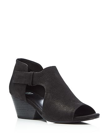 Eileen Fisher - Women's Iris Cutout Mid Heel Booties