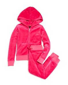 Juicy Couture Black Label Girls' Velour Hoodie & Jogger Pants, Little Kid - 100% Exclusive - Bloomingdale's_0