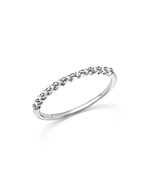 Diamond 11 Stone Stackable Band in 14K White Gold, .10 ct. t.w. - 100% Exclusive