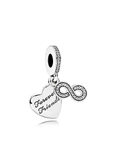 PANDORA Moments Collection Sterling Silver & Cubic Zirconia Forever Friends Charm - Bloomingdale's_0