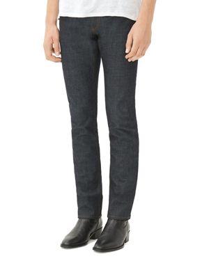 Sandro Jea Pixies Straight Fit Jeans in Raw Denim