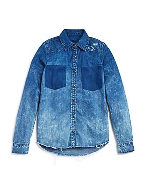 Blanknyc Girls Distressed Denim Shirt  Sizes Sxl