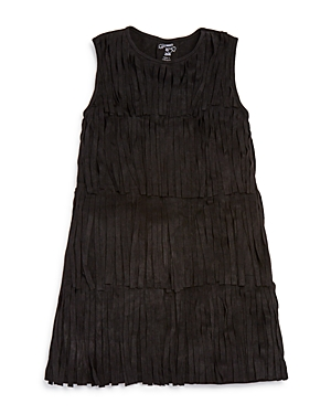Flowers by Zoe Girls' Faux Suede Fringed Dress - Sizes S-xl