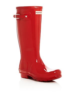Hunter Unisex Gloss Original Kids Classic Rain Boots - Little Kid, Big Kid