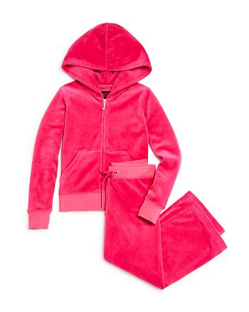 Juicy Couture Black Label - Girls' Velour Hoodie & Mar Vista Pants, Little Kid - 100% Exclusive