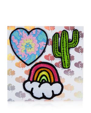 Stoney Clover Lane Heart, Cactus, Rainbow Stick-On Patches