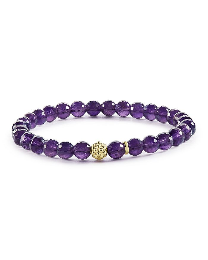 LAGOS - Caviar Icon Amethyst Bracelet with 18K Gold Caviar Station