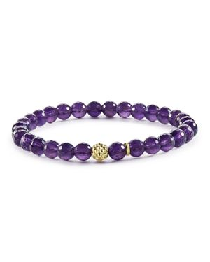 Lagos Caviar Icon Amethyst Bracelet with 18K Gold Caviar Station
