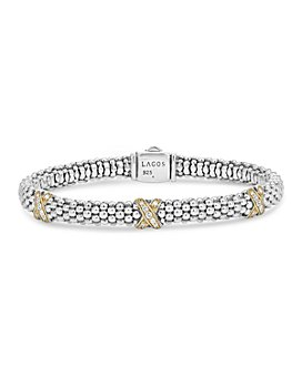 LAGOS - 18K Gold and Sterling Silver X Collection Diamond Rope Bracelet, 6mm
