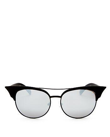 Quay - Women's Zig Mirrored Cat Eye Sunglasses, 55mm