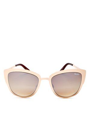 Quay Supergirl Mirrored Cat Eye Sunglasses, 55mm