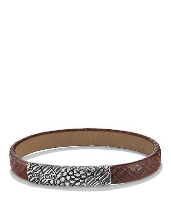 David Yurman - Naturals Gator Leather Bracelet in Brown